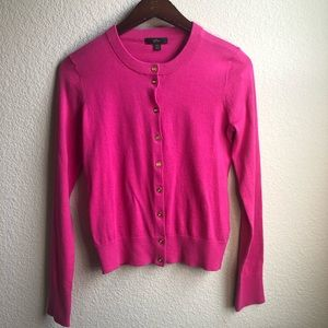 J crew pink button down cardigan